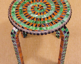 Spiral Mosaic Stool (Secondary's)