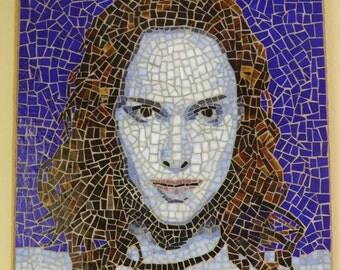 Natalie Portman Portrait - Micromosaic