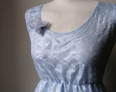 Jennifer Lilly Vintage Inspired Handmade Beautiful Blue Gray Lace Dress // Bohemian Romantic Antique Whimsical Lace (XS,S,M,L,XL)