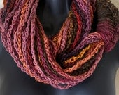 Medusa Fire Mosaic Infinity Lotus Lupe Double Wrap Scarf