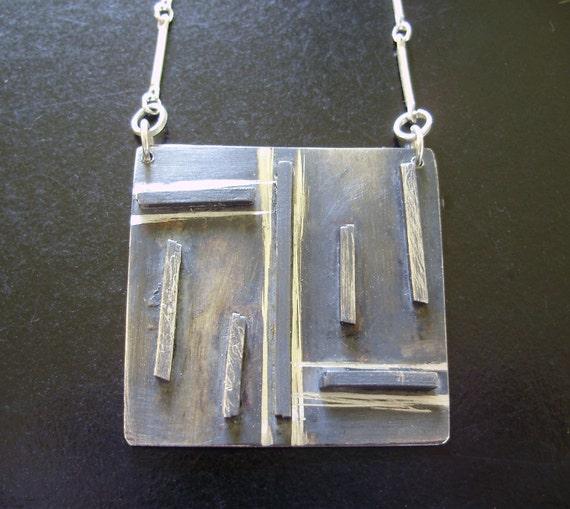 Square Line Necklace