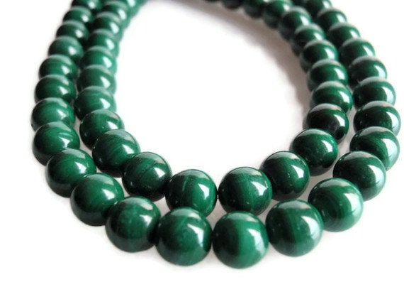 Beads Supply, 12 mm, 39 beautiful Very Finely Banded Top Quality AAA Grade Malachite Gemstone Beads, round 16 1/4 inch strand