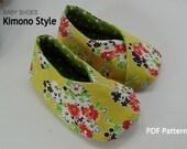 EY,123,Baby Kimono Shoe PDF Pattern - New Item SALE