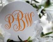Custom Monogrammed Letterpress Coasters