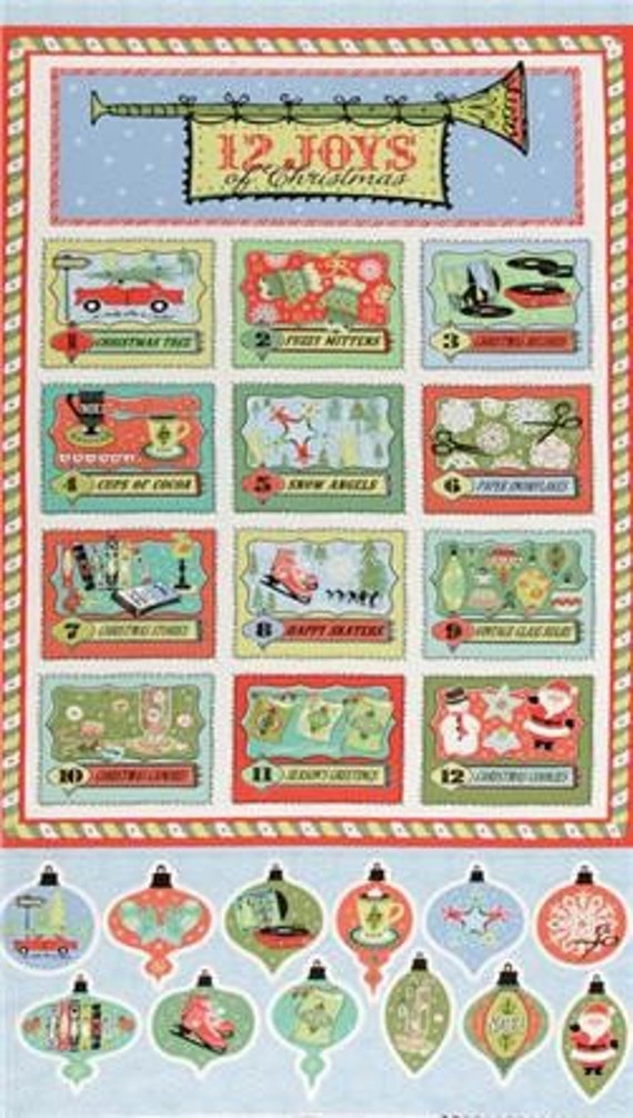 12 Joys of Christmas Panel by Sheri Berry