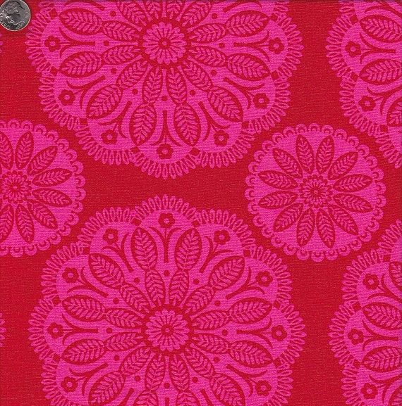 Last Yard in Stock - Michael Miller Gypsy Bandana Tonal Kaleidoscope in Red
