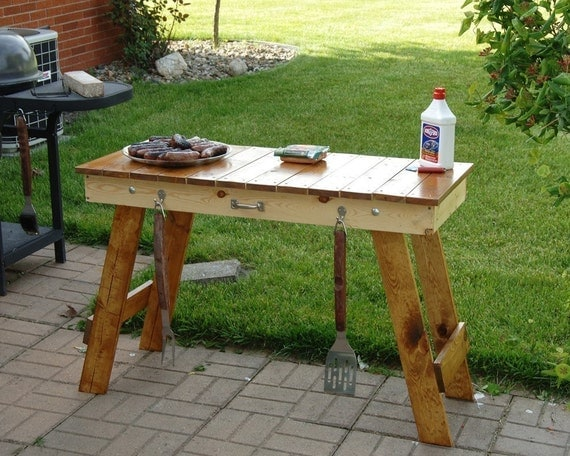 Items Similar To Portable Folding Grill Table On Etsy