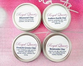 Facial Clay Set - Fuller's Earth, Rhassoul, French Green, and Bentonite Clay