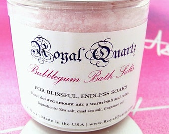 Bubblegum Bath Salts - Uplifting jovial scent, a great soak - Royal Quartz