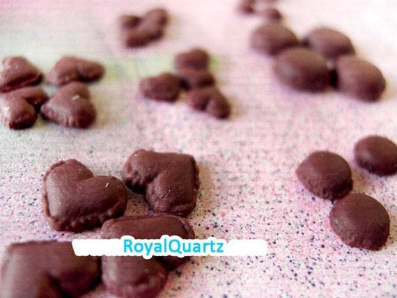 Brown Macaroons Kawaii Deco jewelry or Craft Piece - Clay