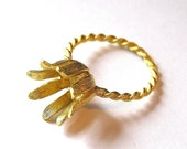 Sale! - Vintage Funky Flower Ring Setting - Size 6