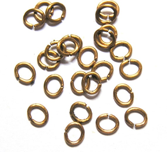 Sale! - Sale Vintage Oval Brass Jumprings - 6.5mm x 5.5mm (100)