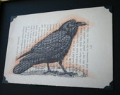 The Little Raven - book page art - limited edition 13/14
