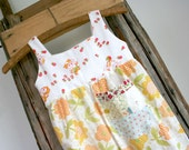 Recycled Pillowcase Summer Dress, Little Kitties, Size 4 years