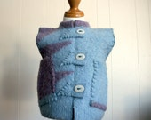 Upcycled Felted Wool Vest, 16-24 months