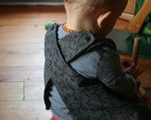 Charcoal Tweedy Floral Crossed-Back Pinafore 12 Months Picky