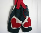 Felted Wool Overalls, 18 to 24 Months