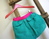 father to daughter silk shirt skirt, size 1 to 2 years