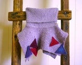 felted angora wool baby skirt, size 6 to 12 months