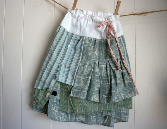 father to daughter tiered cotton skirt 6 to 9 years