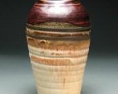 Black Brown Tan White Temmoku Vase