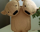 bearfurcated. hazel and ingrid, a double brown bear.