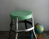 mint green cosco stool