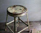 industrial metal shop stool