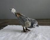 tiny sparrow bird soft sculpture