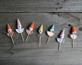 vintage clown cake toppers