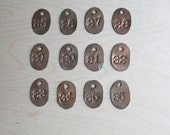 vintage handmade copper tool tag