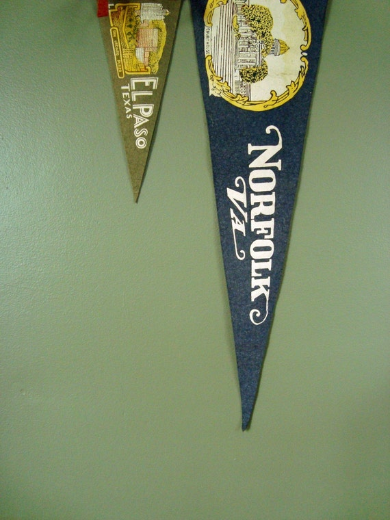 RESERVED. well traveled. vintage el paso city pennant