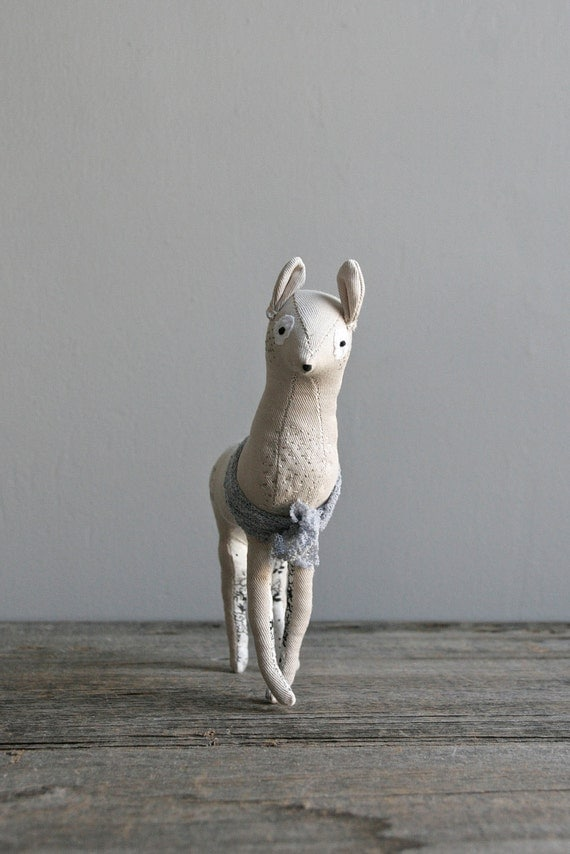 RESERVED. delicate doe - soft sculpture deer