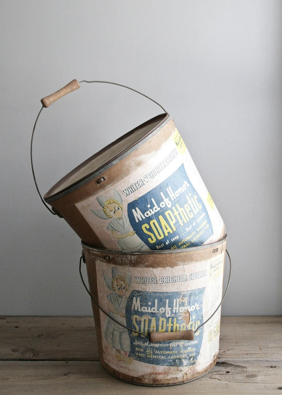 laundry soap buckets // set of two
