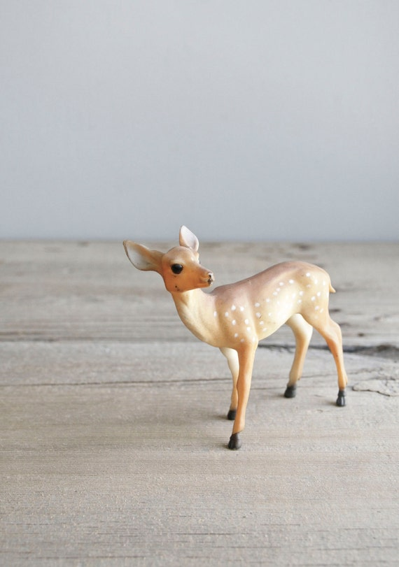 vintage celluloid deer fawn figure
