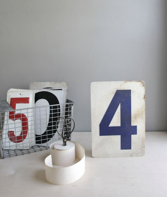 gas station number / industrial decor