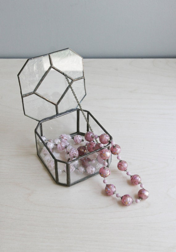 handmade glass jewelry box