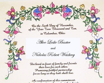 Renaissance - Wedding Party Marriage Certificate
