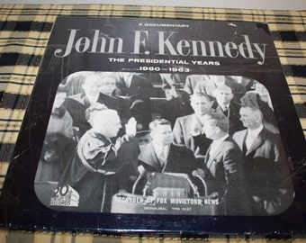 John F. Kennedy, record,Presidential Years 1960-1963, Mad Men Era, Political collectiable, Great framed for Man's CAVE