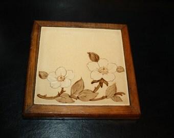FRANCISCAN ware, Tile Vintage CAFE ROYAL, Tea Tile, Trivet,  Usa,1980s,for wall or as a trivet, excellent condition
