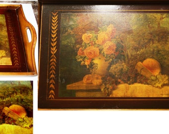 Robinhood Ware ,Lrge Serving Tray, Max Streckenbach c. 1905 litho, 1940s, 27 x 17 inches, great for wall, table or ottoman