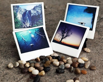 Ceramic Drink Coasters Travel Set of 4 Photo Coasters.