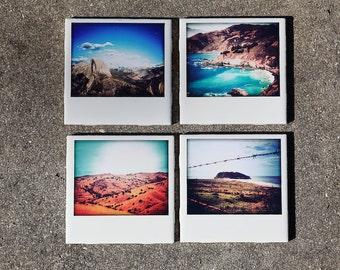 Scenic California Coasters (Set of 4 Ceramic) Landscape Photography, Travel, Road Trip,Personalization, barware