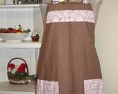Eiffel Tower Kitchen Apron Pink Paris - FREE or PRIORITY Shipping