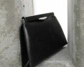 Night Time Drama Vintage 1960s black and diamante clutch purse