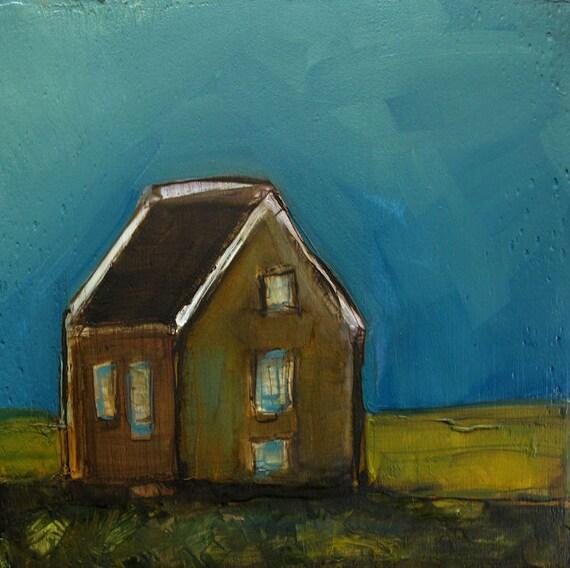 ORIGINAL Oil Painting - LANDSCAPE Love Shack - OIL