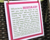Will you be my Bridesmaid funny card, Will you be my Bridesmaid card, funny Bridesmaid card, Bridesmaid proposal, bridal party cards,