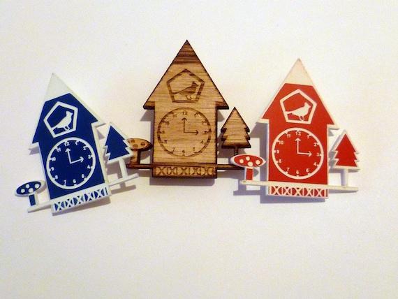 Cuckoo Clock Brooch (reserved for Lisa)