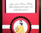 Snow White Princess Pocket Invitations