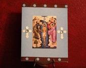 Orthodox Boy Baptism Card